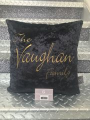 Beautiful printed design personalised family scatter cushions - colour options