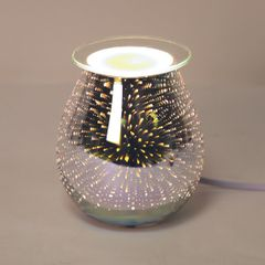3D Electric wax melt burner with light 14cm galaxy effect