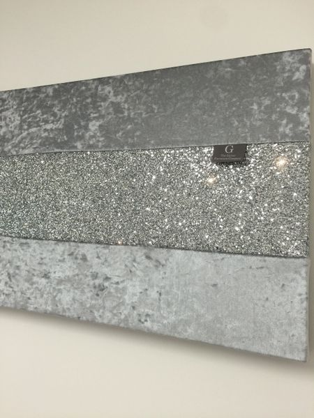 2e37e1599b5 Stunning gunmetal grey with silver glitter large wallart