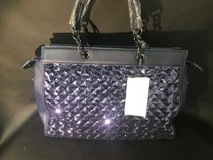 Stunning limited addition navy sequin and faux leather Alex Max handbag
