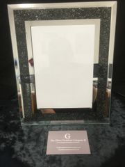 beautiful mirror and black bead photo frame 4 x 6 inch photo