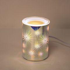 3D Electric Wax melt burner with light 14cm star design