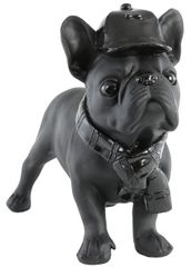 Black french bulldog with hat ornament