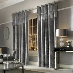 Beautiful Kylie at home Veda lined eyelet curtains - colour options