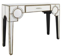 Stunning Hollywood Antique mirror console table with drawer