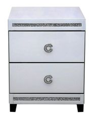 Beautiful Cameo Collection White 2 Drawer Bedside Cabinet