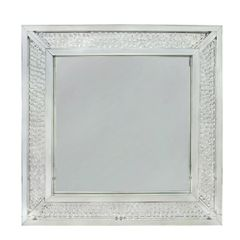 Beautiful floating crystal wall mirror - large
