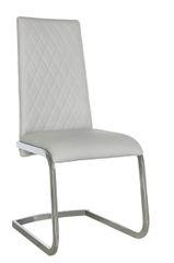 Beautiful light grey Jupiter diamond stitch design dining chair