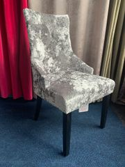 Beautiful crushed velvet with silver Lion knocker dining/ dressing chair - colour options