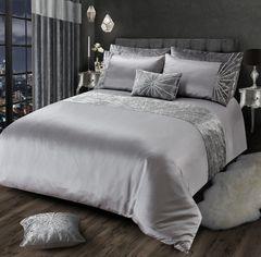 Stunning silver crystal starburst bedding set options - sizes