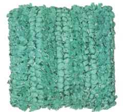 Pretty Aqua Blue plait Cushion with a soft shaggy texture, and a repeated knot Pattern.