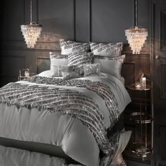 Beautiful Kylie At Home Eliza Pewter bedding options