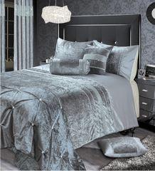 stunning silver Renzio crystal detail bedding set - size options