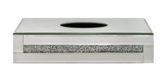 stunning crushed crystal tissue box holder - large