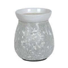 White sugar coated design electric wax burner- 14cm