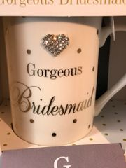 Gorgeous Bridesmaid sparkle cup - wedding
