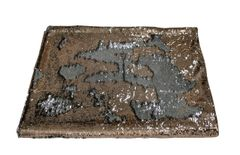beautiful copper and silver sequin mermaid bed throw