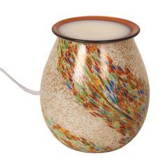 Beautiful Art glass electric wax melt burner 14cm