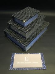 Beautiful Black with disco silver glitter book box set x3