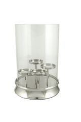Beautiful Nickel with glass 4 pillar candle holder hurricane lamp