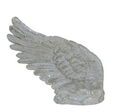 Beautiful Mother of Pearl Angel wing tealight candle holder - left wing
