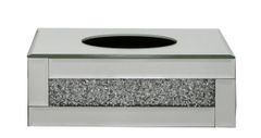 stunning crushed crystal tissue box holder - medium