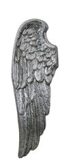 Simply stunning Antique silver wall mounted Angel wing - left wing 105.5m tall