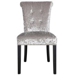 Beautiful Sophia silver crushed velvet - silver glitter back chair