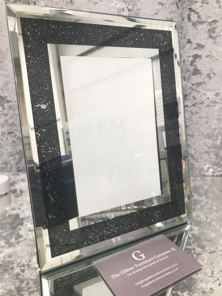 damaged on delivery black bead photo frame | The Glitter Furniture ...
