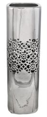 Beautiful 46cm Silver cut pattern Vase