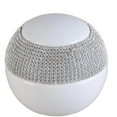 Beautiful 10cm Sparkle And White Decorative Ball