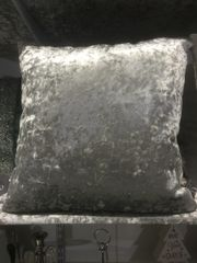 Beautiful silver plain scatter cushion 18x18 inch