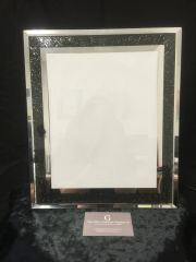 beautiful mirror and black sparkle photo frame 5 x 7 inch photo