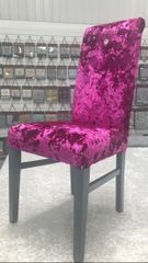 Beautiful Cadillac deep crushed velvet dressing room chair