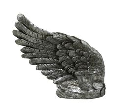 Beautiful Antique silver Angel wing tea light candle holder - left wing