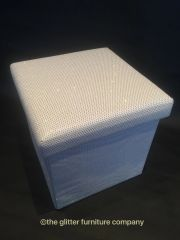 Stunning white with disco glitter storage box