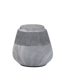 Grey Marble effect tealight candle holder