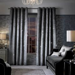 Stunning Kylie At Home Grazia lined eyelet curtains - colour options