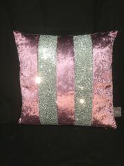 stunning Ava Amethyst with silver crackle glitter scatter cushion