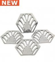 set of 4 art deco coasters