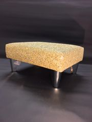 luxury Gold Sparkle Glitter Footstool Small