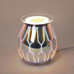 3D electric wax melt burner with light - multi colour design