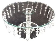 Stunning crystal cake stand with crystal droplets