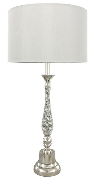 Lamp Lighting Sparkle Diamante Faux Silk Candlestick The