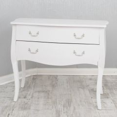 White Croc 2 drawer chest of drawers
