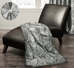 Stunning crushed velvet and crystal detail throw