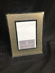 Gold glitter and mirror photo frame 5x7 inch