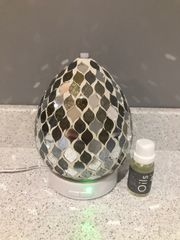 Gold Mirror Teardrop LED Ultrasonic Diffuser with Essential Oil