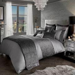 Beautiful Kylie at Home Saturn grey bedding