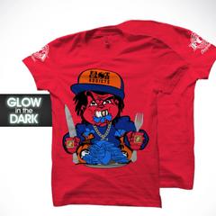 "Lunch Money FCA Men's T-Shirt. Grey ""Glow in the Dark Logo"" S-XXXL"